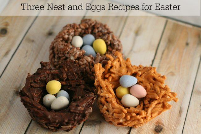 Three different Birds' Nest Recipes for Easter.