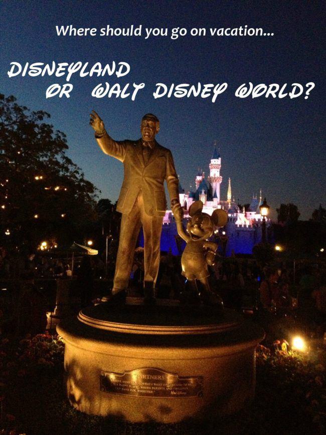 Should you go to Disneyland or Walt Disney World