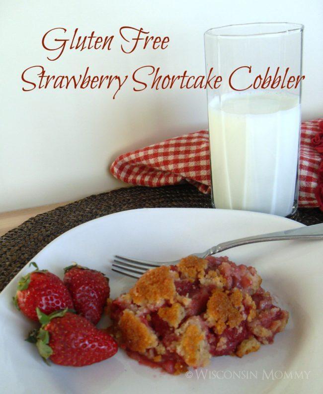 Gluten Free Strawberry Shortcake Cobbler