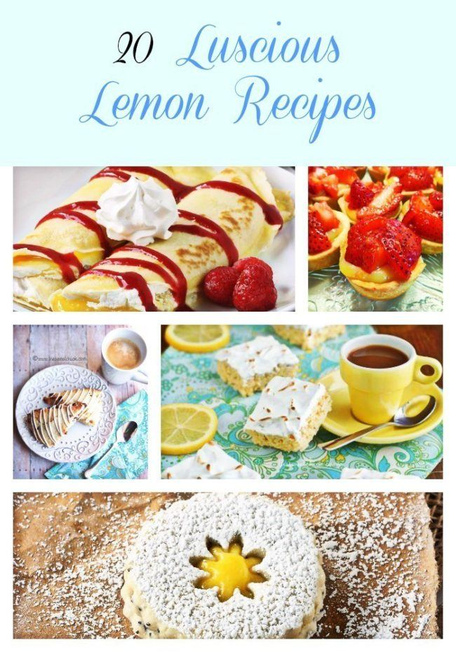20 Luscious Lemon Recipes