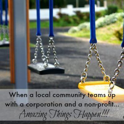 When a local community teams up with a corporation and a non-profit, amazing things happen!