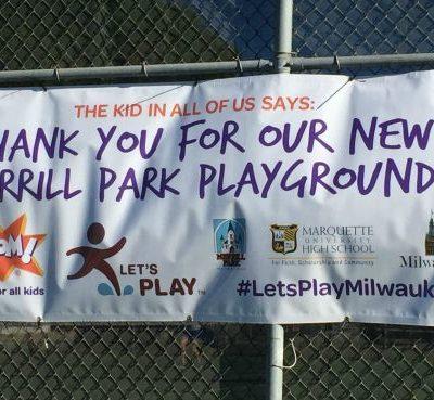 The Merrill Park Playground Makeover #LetsPlayMilwaukee