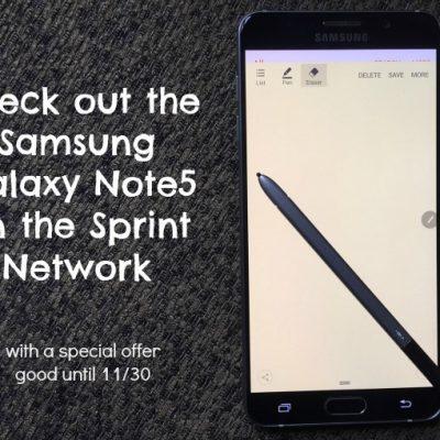 Samsung Galaxy Note5 Review #SprintMom