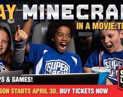 Play Minecraft in a Movie Theater!!