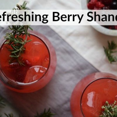 Refreshing Berry Shandy