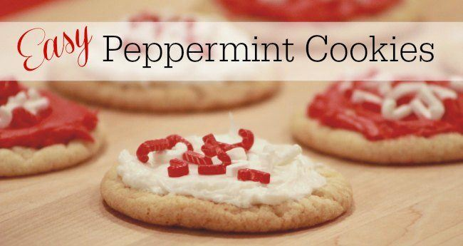 Easy to make peppermint cookies.