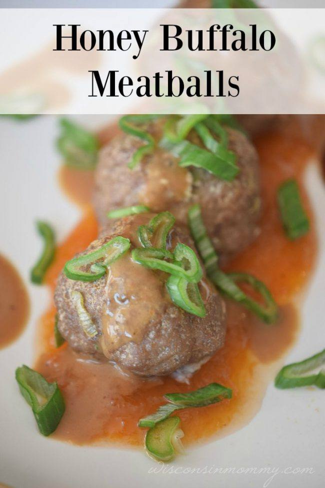 honey buffalo meatballs pin