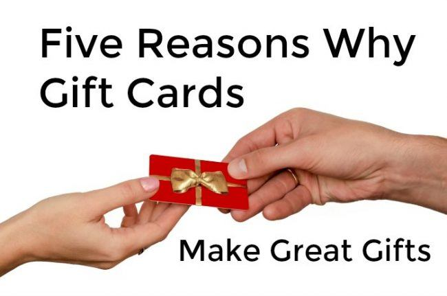 Why Gift Cards Make Great Gifts