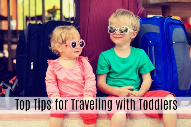 tips traveling with toddlers