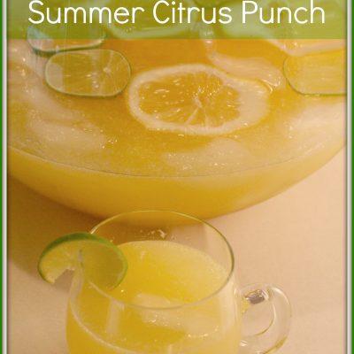Sparkling Summer Citrus Punch Recipe