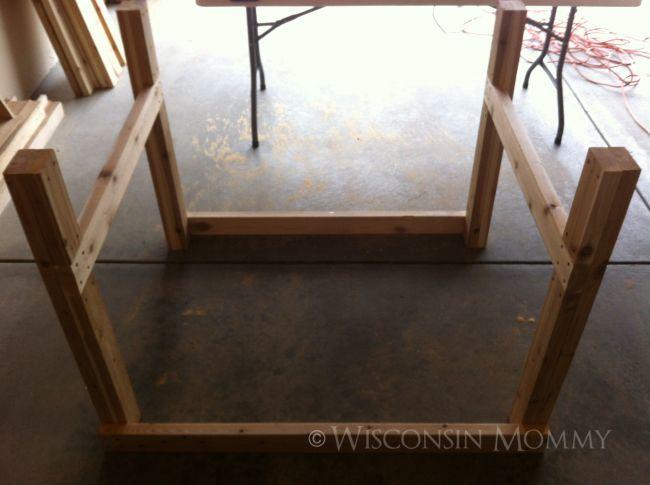 elevated garden bed frame upside down