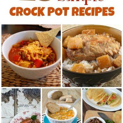 25 Easy Crock Pot Recipes