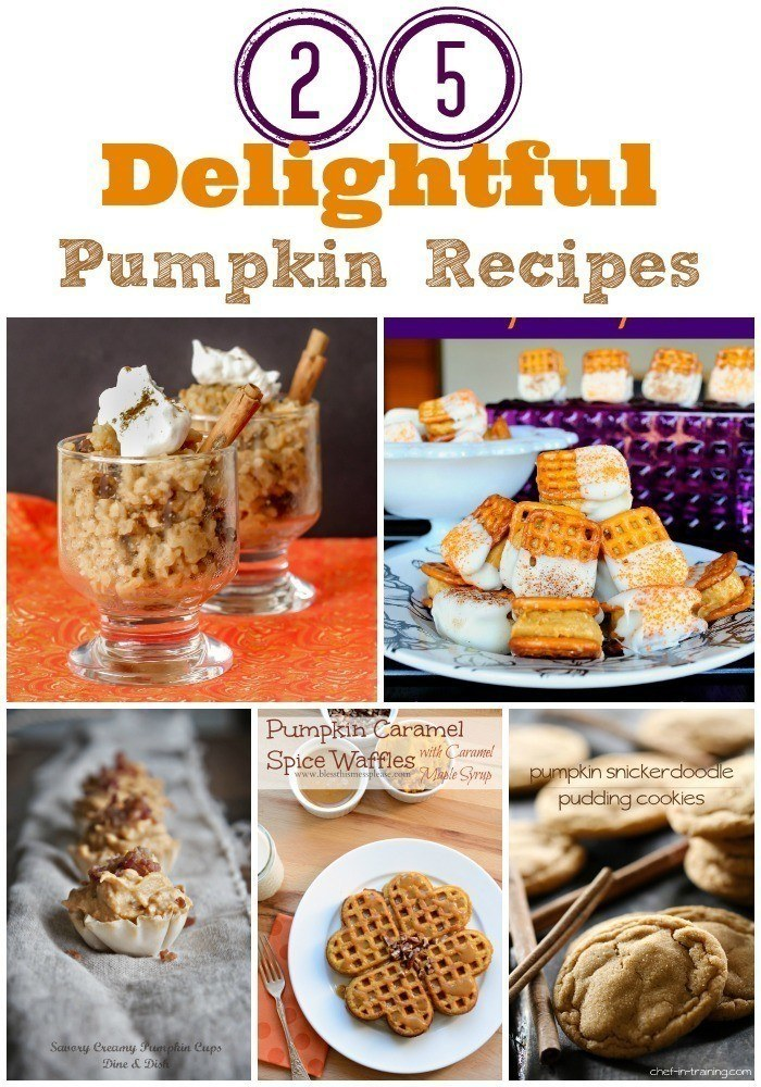 Easy and tasty pumpkin recipes.