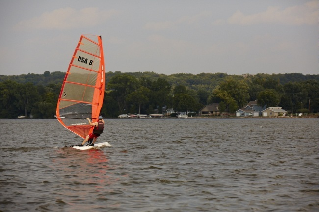 Windsailing on Lake Winnebago