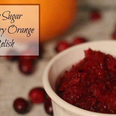 Low Sugar Cranberry Orange Relish Recipe