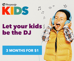 Rhapsody KIDS Provides Safe Streaming Music ($300 Target GC Giveaway)