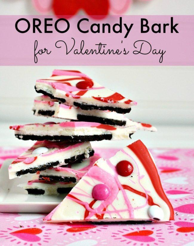 Cute red and pink candy bark, perfect for Valentine's Day.