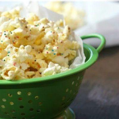 Birthday Cake Flavored Popcorn Recipe