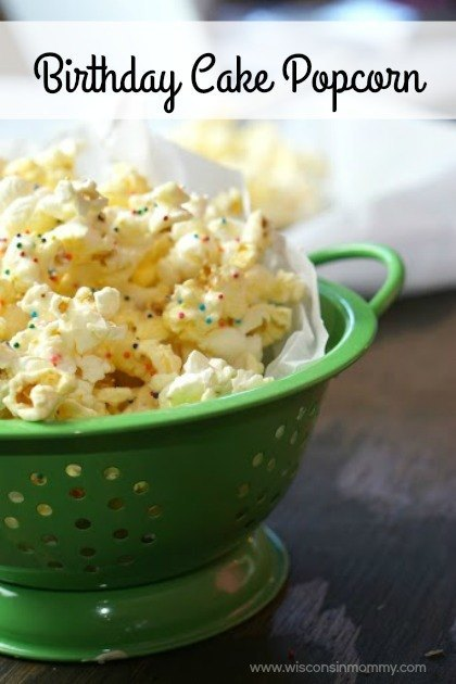 Delicious Birthday Cake Flavored Popcorn will become a fast favorite in your house with this easy recipe.