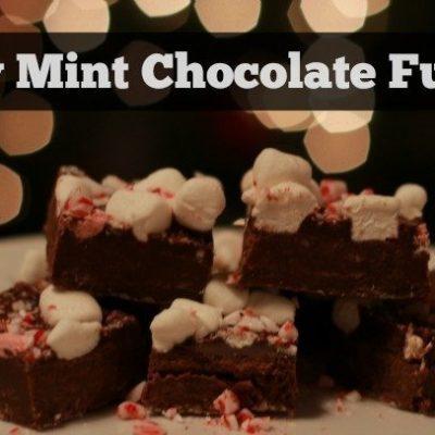 Easy Mint Chocolate Fudge Recipe