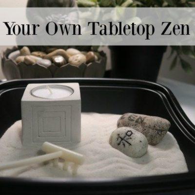 Make Your Own Tabletop Zen Garden