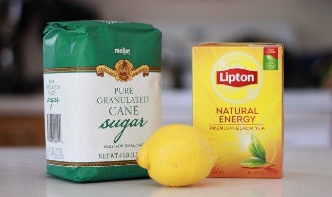 lemon sweet tea granita ingredients