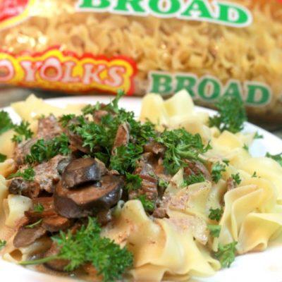 A Modern Take on Crock Pot Beef Stroganoff (Lightened Up)
