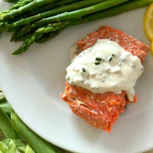 Yogurt Horseradish Sauce for Salmon