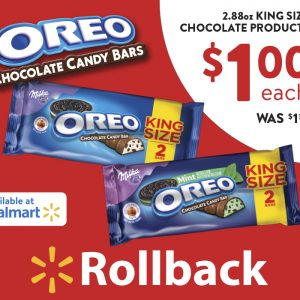 OREO Chocolate King Size Candy Bars Rollback at Walmart (and a giveaway)