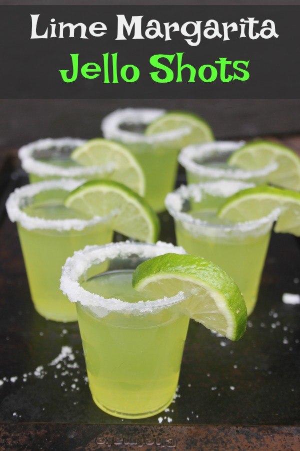 These refreshing lime margarita Jello shots are perfect for any summer party.