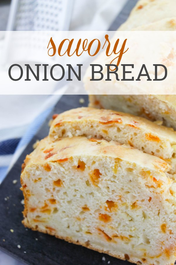 Savory Onion Bread - Grab some Vidalia Onions while they are in season and make this delicious and savory Onion Bread!! (ad) #OnlyVidalia #recipe