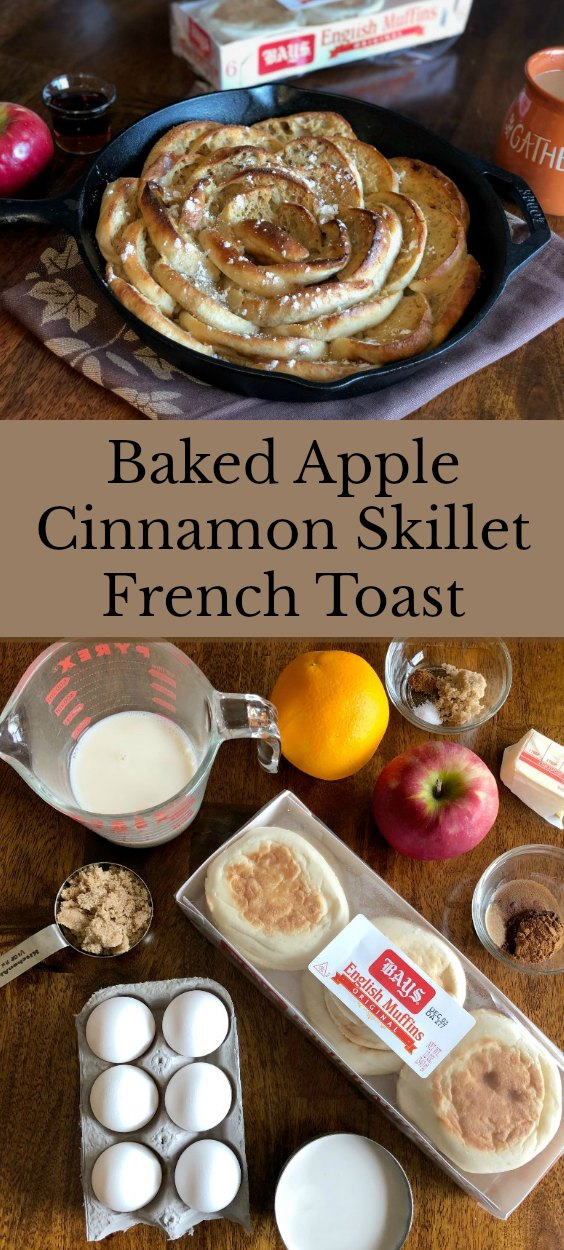 This tasty and pretty skillet french toast is easy to make with Bays English Muffins. Fancy enough for company and tasty enough for even your pickiest family member, it will be a breakfast or brunch hit with everyone.