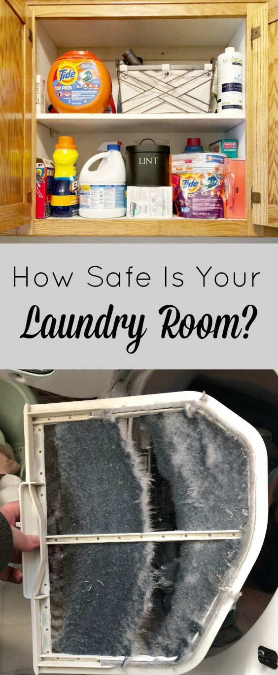 You probably spent hours child-proofing the kitchen, bathrooms, living room and bedrooms. But did you ever think about the laundry room? Today #ontheblog I'm talking about five safety concerns you need to address in your laundry room. Check it out here ----> (link to post)