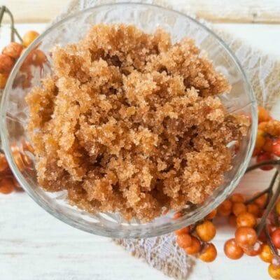 pumpkin spice brown sugar scrub