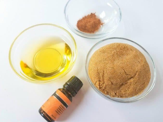 supplies needed to make pumpkin spice sugar scrub