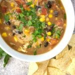 This refried bean soup is incredibly easy to make and also incredibly delicious!