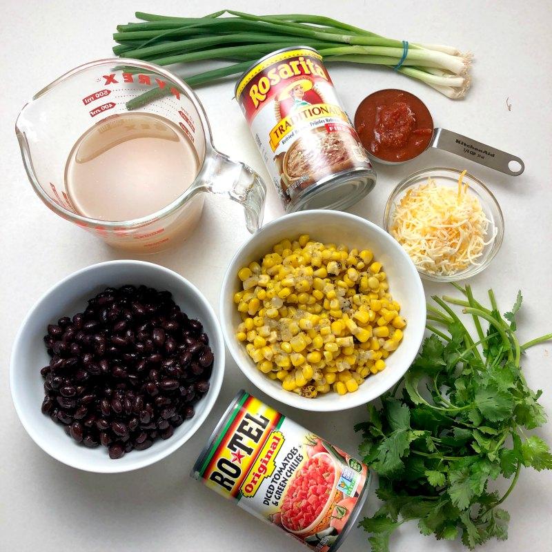Refried bean soup ingredients