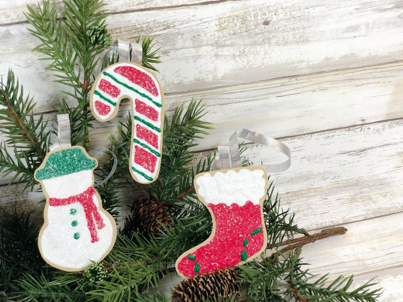 finished foam christmas cookie ornaments
