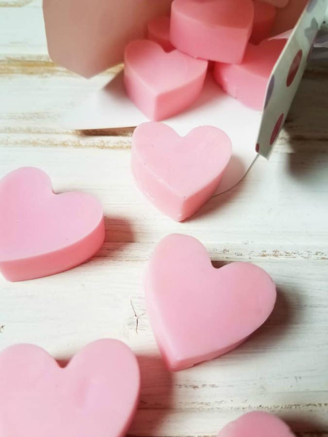 DIY heart soaps