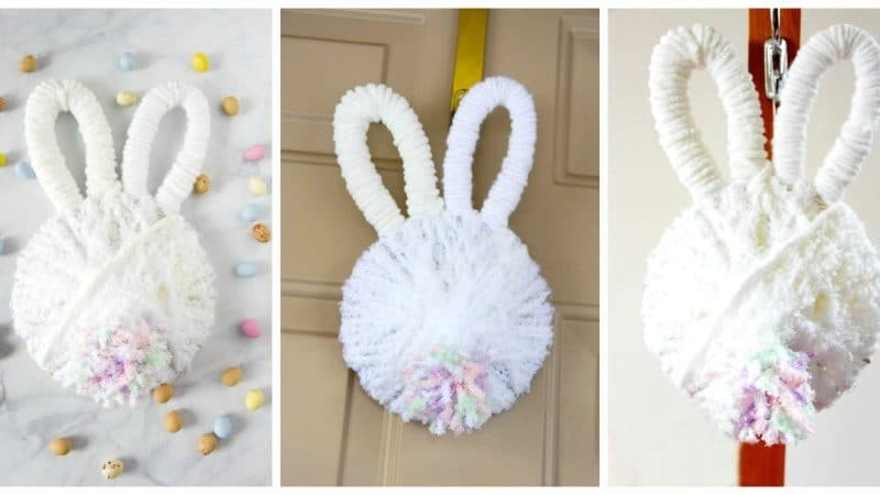 finished bunny butt wreaths