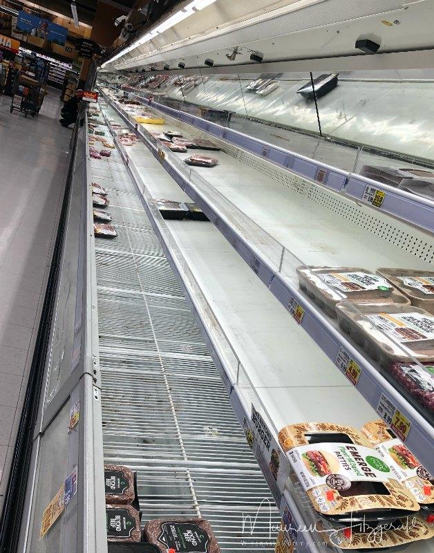 bare shelves grocery