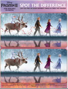 Frozen 2 Spot Differences