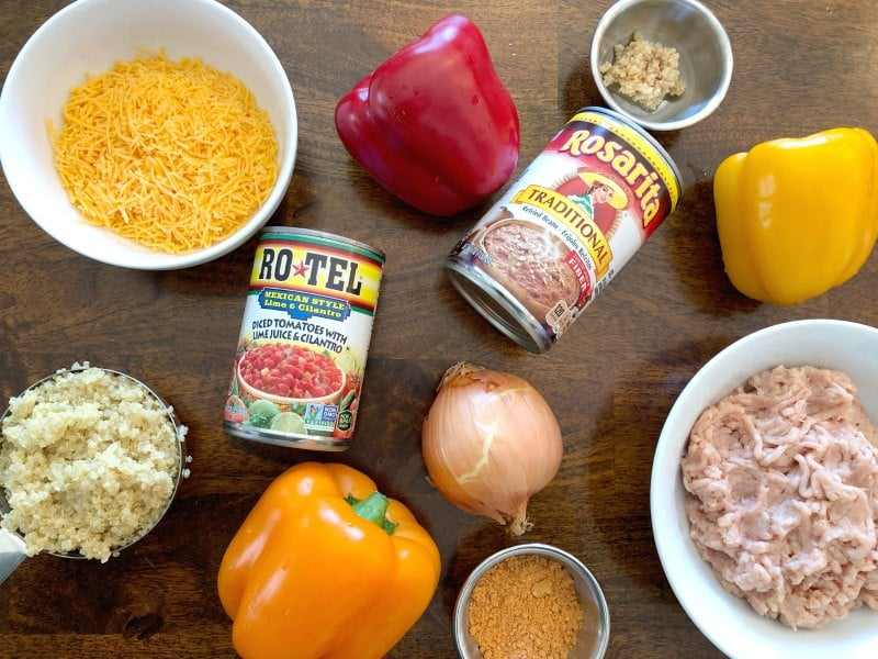 chicken stuffed peppers ingredients