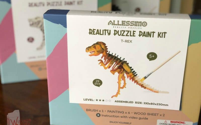 Allessimo dinosaur 3d puzzle in a box