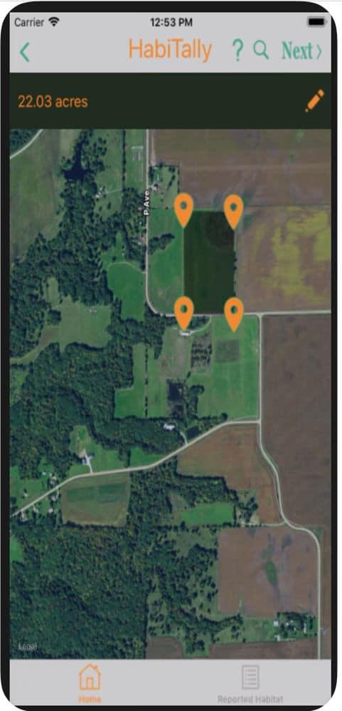 habitally app shows where garden is