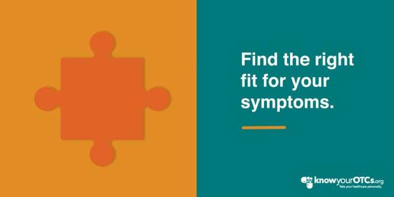 a puzzle piece and find the right fit for your symptoms text