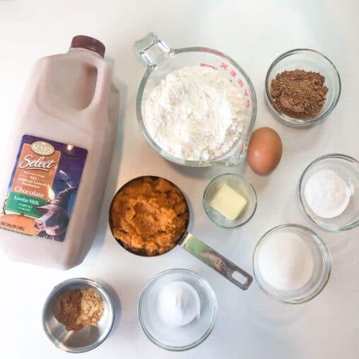 ingredients to make pumpkin pancakes