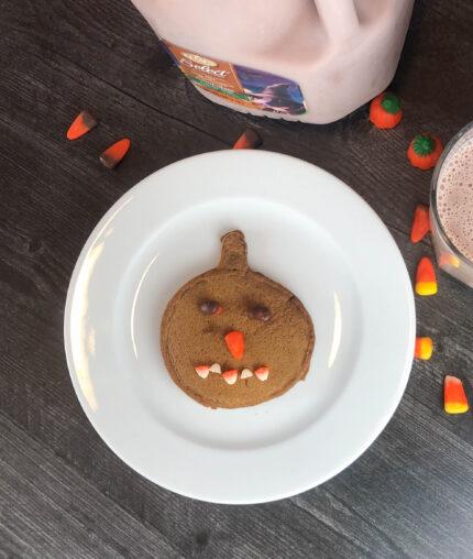 chocolate pumpkin pancake jack-o-lantern